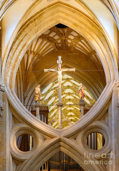 Scissor Arches, Wells Cathedral Poster