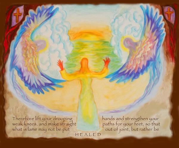 Scripture Illus. Hebrews Lift Your Drooping Hands Poster
