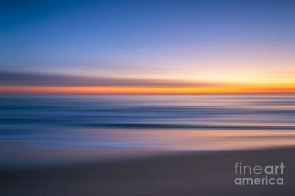 Sea Girt New Jersey Abstract Seascape Sunrise Poster