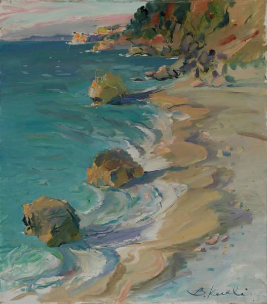 Seascape Of Nimfa Beach, Vlora, Albania Poster