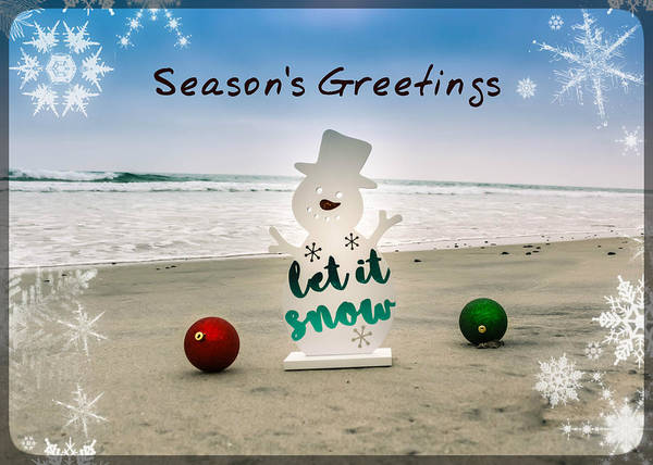 Poster featuring the photograph Season's Greetings by Alison Frank
