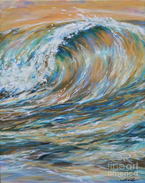 Seaspray Gold Poster