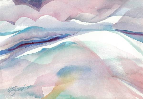 Poster featuring the painting Sensuous Landscape by Carolyn Utigard Thomas