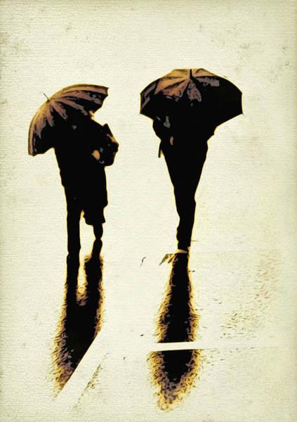 Sepia Rain Poster