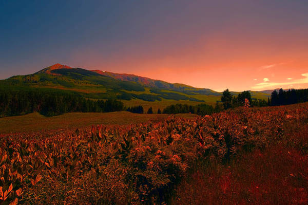 Setting Sun In Crested Butte Poster