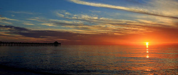 Setting Sun In Naples Poster