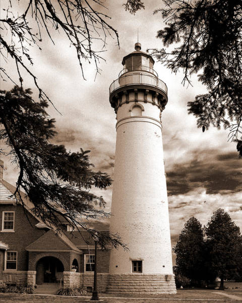 Poster featuring the photograph Seul Choix Point Lghthouse Mi by Rich Stedman
