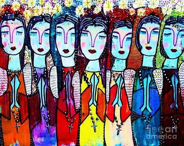 Seven Blue Spanish Angels Poster