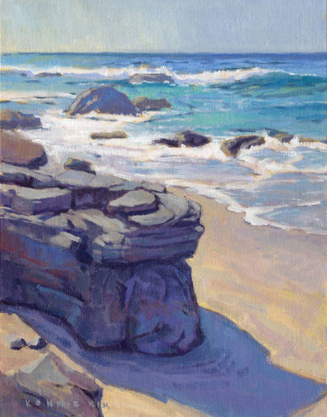 Poster featuring the painting Shadow At Crystal Cove by Konnie Kim