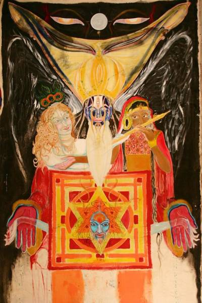 Poster featuring the painting Shambala Overlord by Brian c Baker