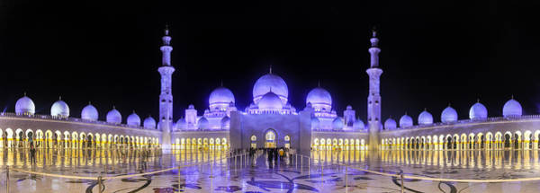 Poster featuring the photograph Sheikh Zayed Mosque Panorama View by Yogendra Joshi