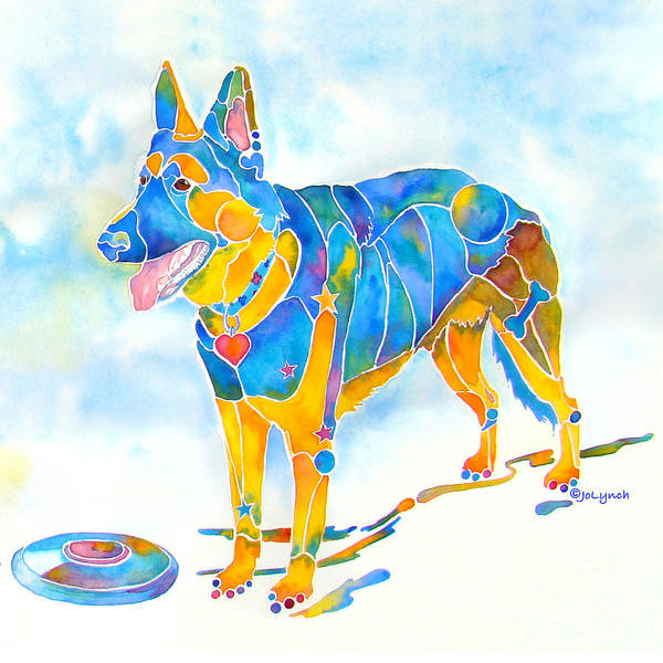 Shepherd With Frisbee - Play With Me Poster