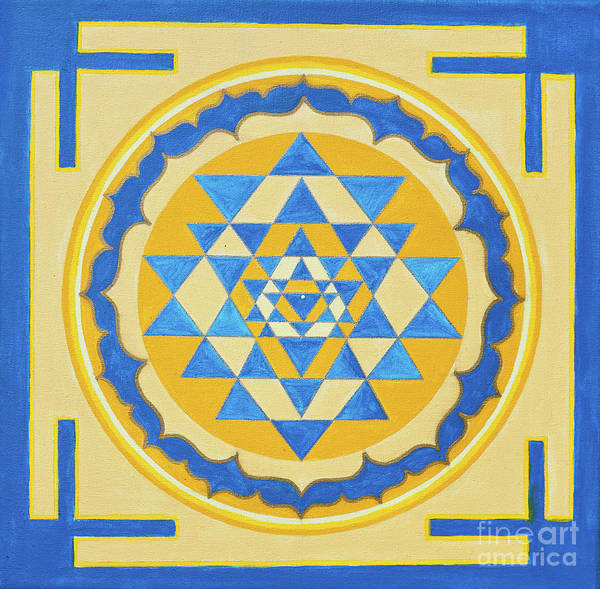 Shri Yantra For Meditation Painted Poster