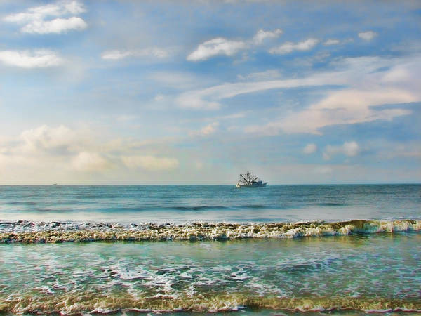 Shrimp Boat Off Kiawah Poster