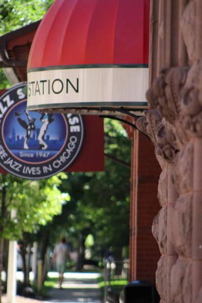 Sidewalk View Jazz Station  Poster