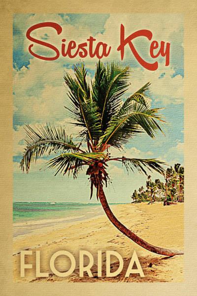 Siesta Key Florida Palm Tree Poster