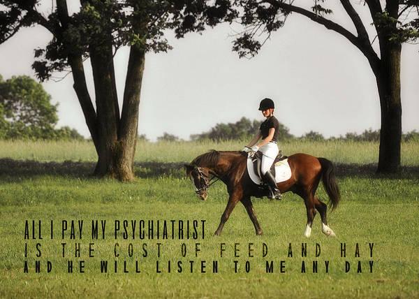 Silent Hoofbeats Quote Poster