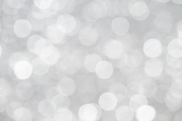 Silver Grey Bokeh Abstract Poster