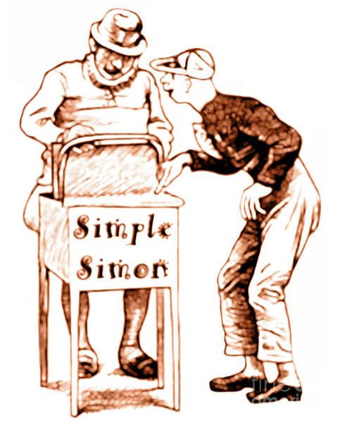 Simple Simon Mother Goose Vintage Nursery Rhyme Poster