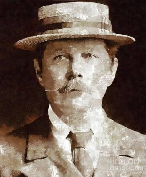 Sir Arthur Conan Doyle By Mary Bassett Poster