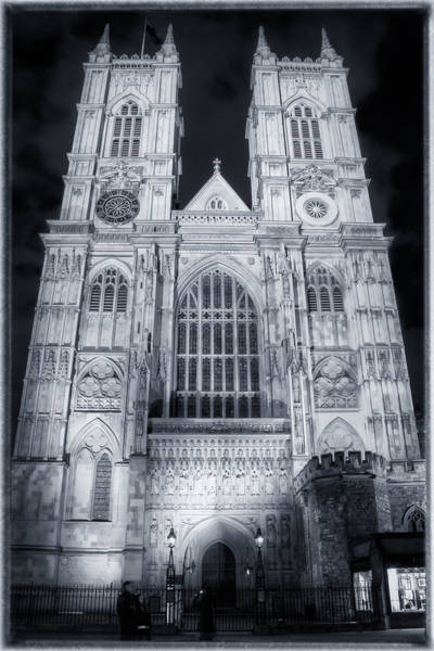 Westminster Abbey Night Poster
