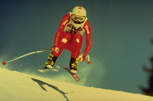 Poster featuring the photograph Skiing In Crans Montana by Travel Pics