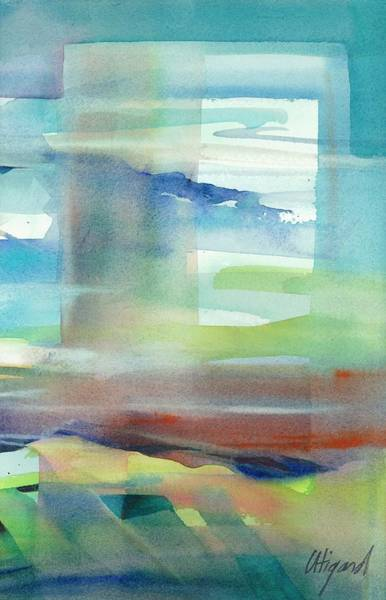 Poster featuring the painting Sky Window 1 by Carolyn Utigard Thomas