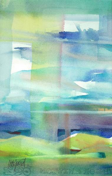 Poster featuring the painting Sky Window 2 by Carolyn Utigard Thomas