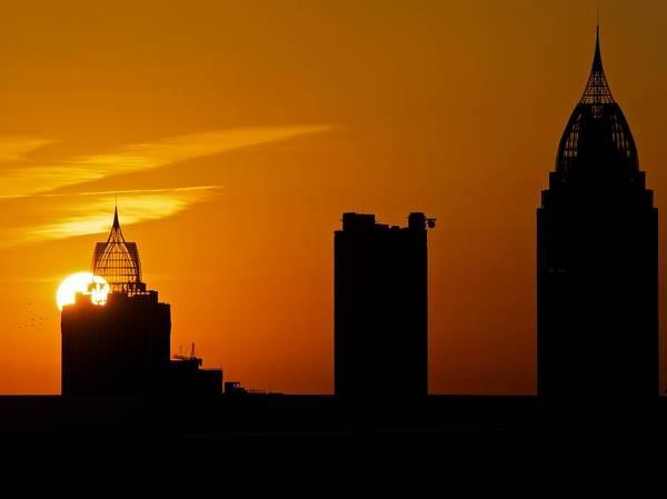 Skyscraper Sunset Poster