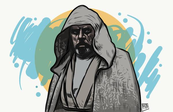 Poster featuring the digital art Skywalker Returns by Antonio Romero