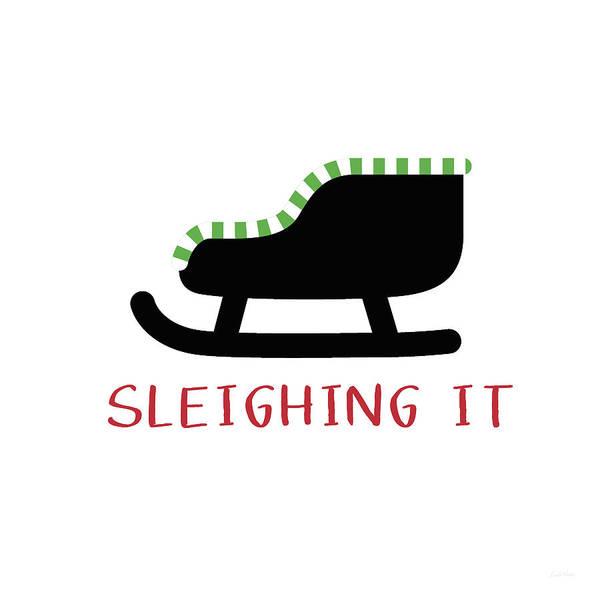 Sleighing It- Art By Linda Woods Poster