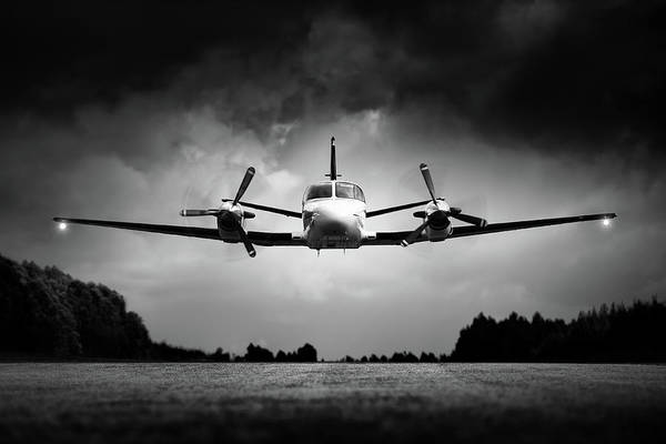 Small Airplane Low Flyby Poster