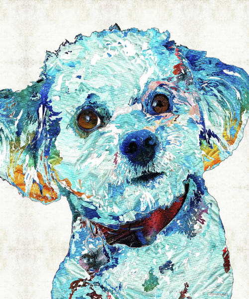 Small Dog Art - Who Me? - Sharon Cummings Poster