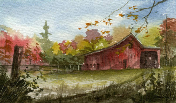 Small Fall Barn Poster