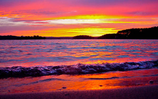 Smith Mountain Lake Surreal Sunset Poster