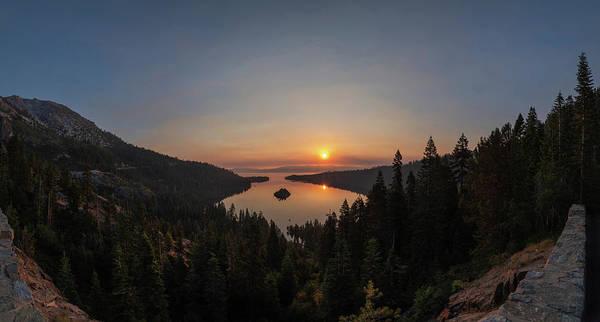 Smokey Sunrise At Emerald Bay Poster
