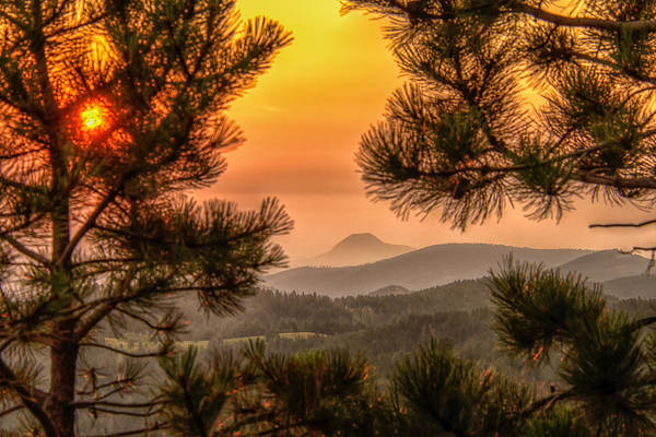Smoky Black Hills Sunrise Poster