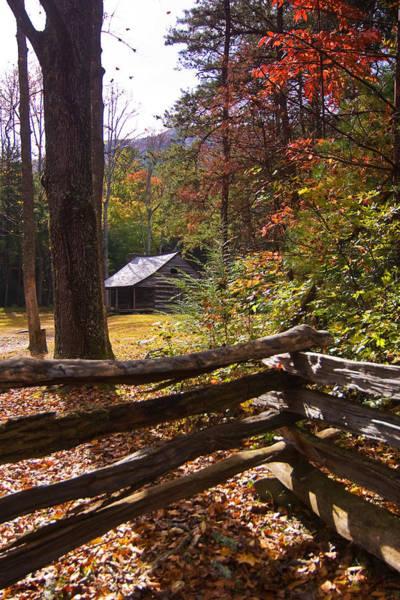 Smoky Mountain Log Cabin Poster