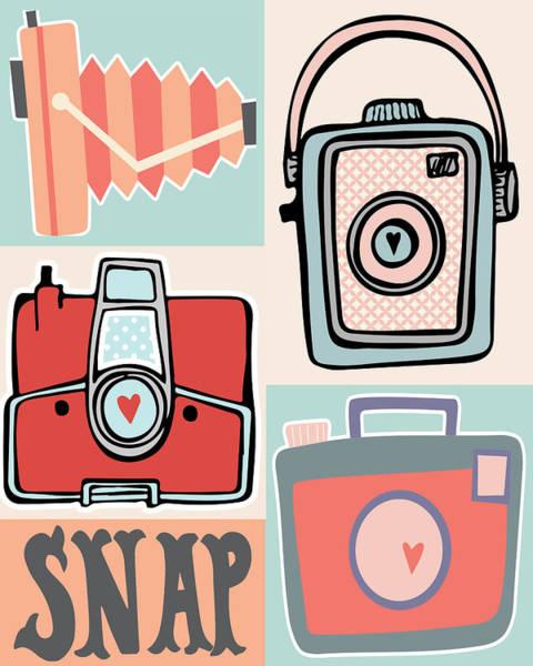 Snap - Vintage Cameras Poster