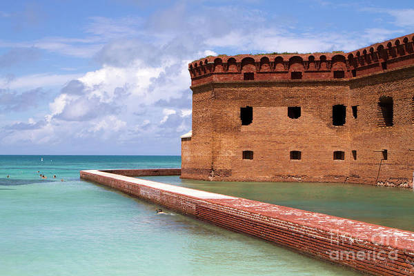Snorkelers Fort Jefferson Poster