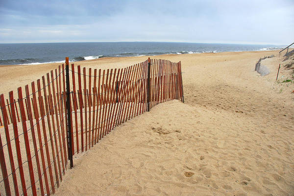 Poster featuring the photograph Snow Fence - Plum Island by AnnaJanessa PhotoArt