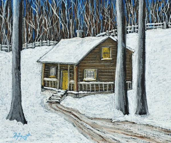 Snow On Cabin Poster