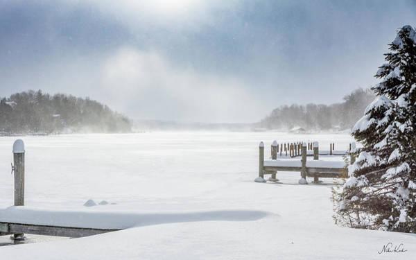 Snow On Lake Charlevoix Poster