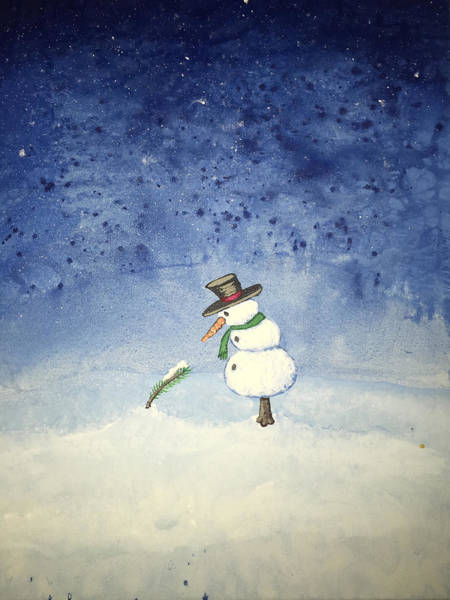 Poster featuring the painting Snowfall by Antonio Romero