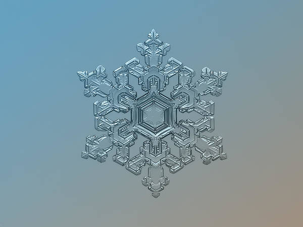 Snowflake Photo - Ornate Pattern Poster