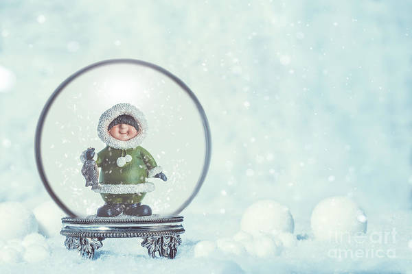 Snowglobe With Eskimo Poster