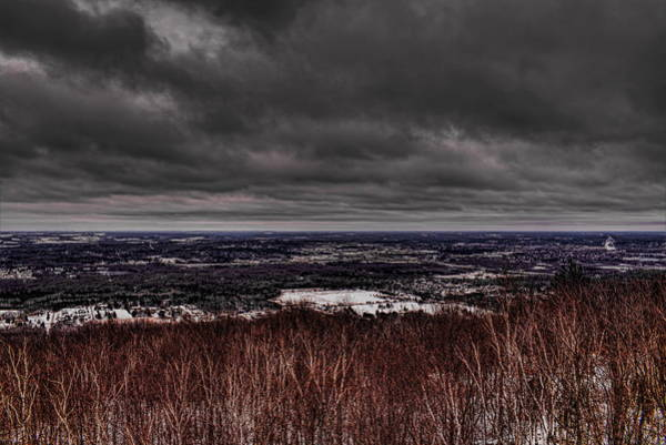 Snowstorm Clouds Over Rib Mountain State Park Poster