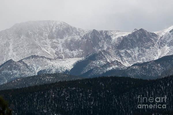 Snowstorm On Pikes Peak Poster