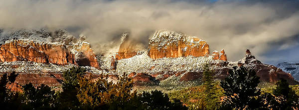 Snowy Day In Sedona Poster