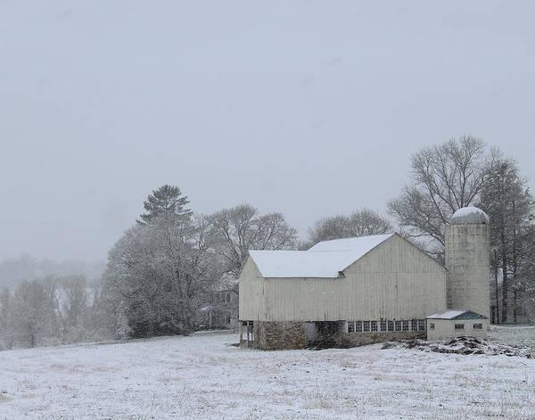 Winter White Farm Poster